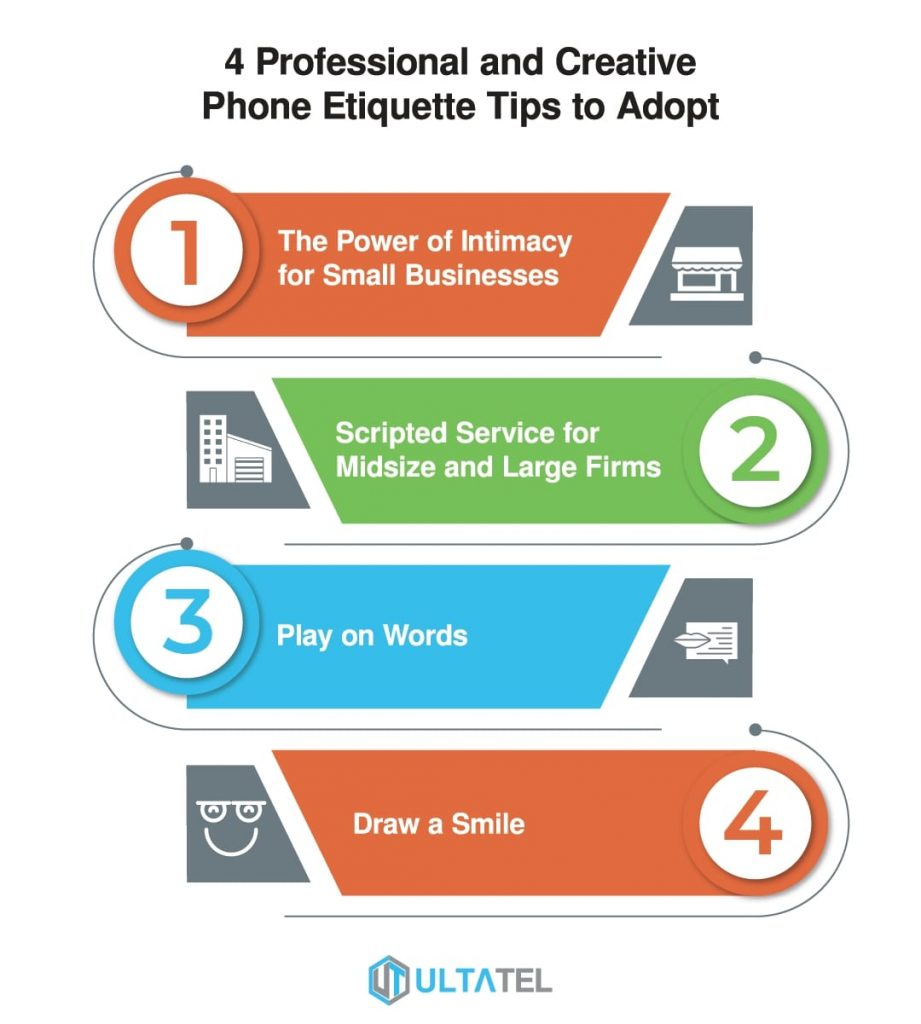 4 Professional and Creative Phone Etiquette Tips to Adopt Infographics