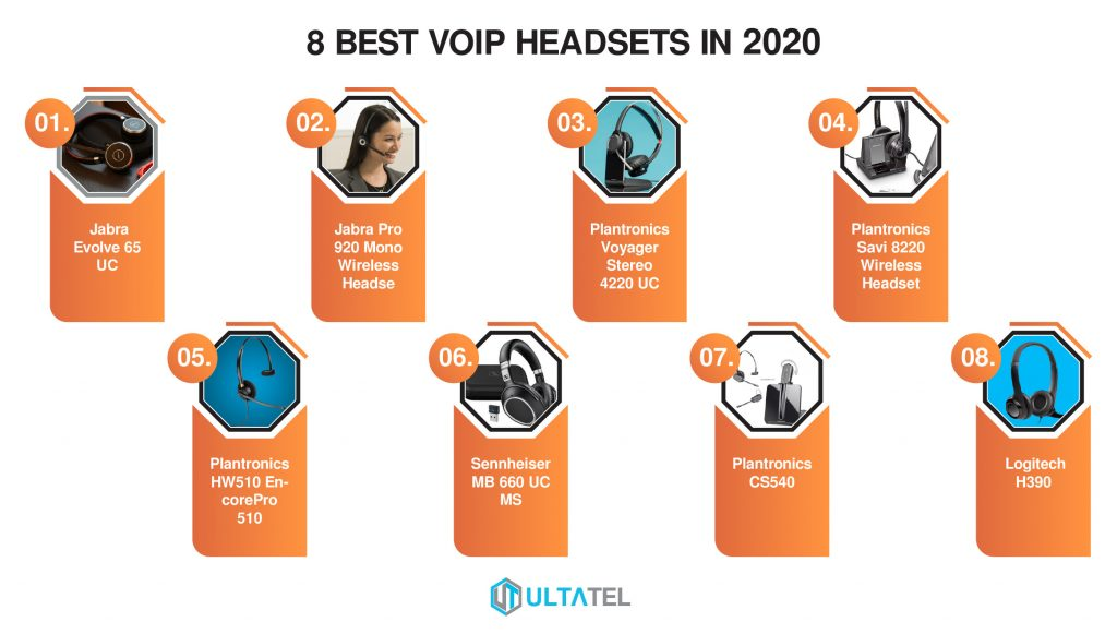 best voip headsets infographics